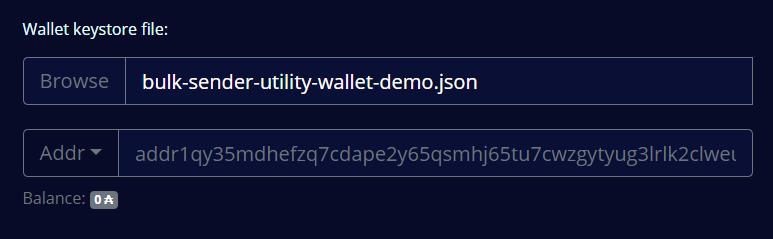 Wallet address