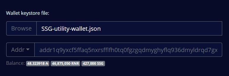 Wallet balances shown
